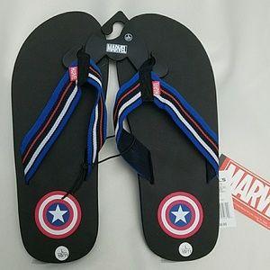 Other - *NWT Fantastic Captain America *Mens* flip flops